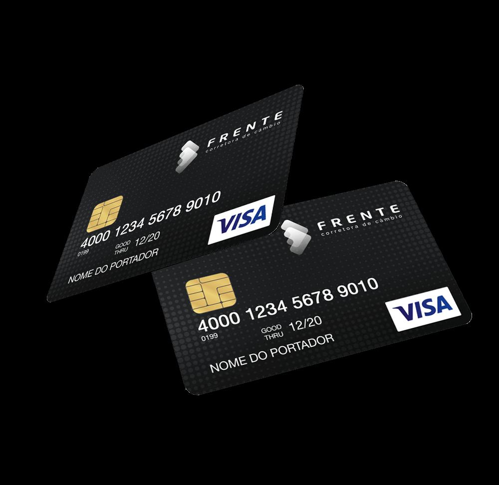 Imagem do cartão de crédito pré-pago da Frente Corretora