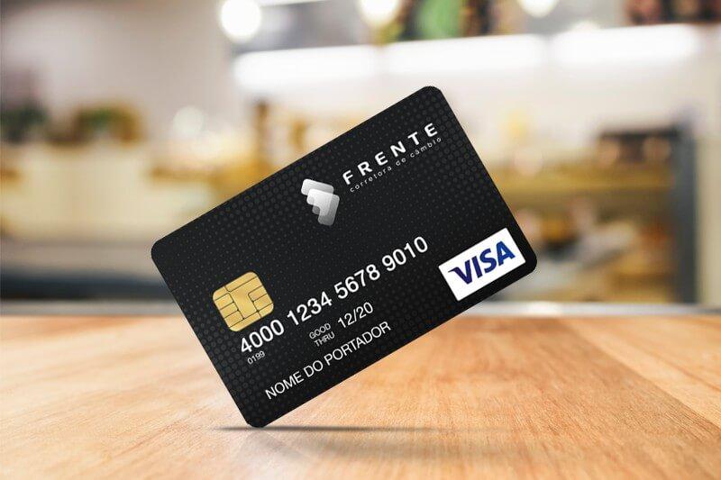 Imagem do cartão pré-pago da Frente Corretora