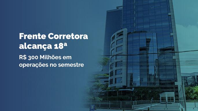 Frente Corretora alcança 18ª colocação entre as corretoras independentes no ranking do Banco Central