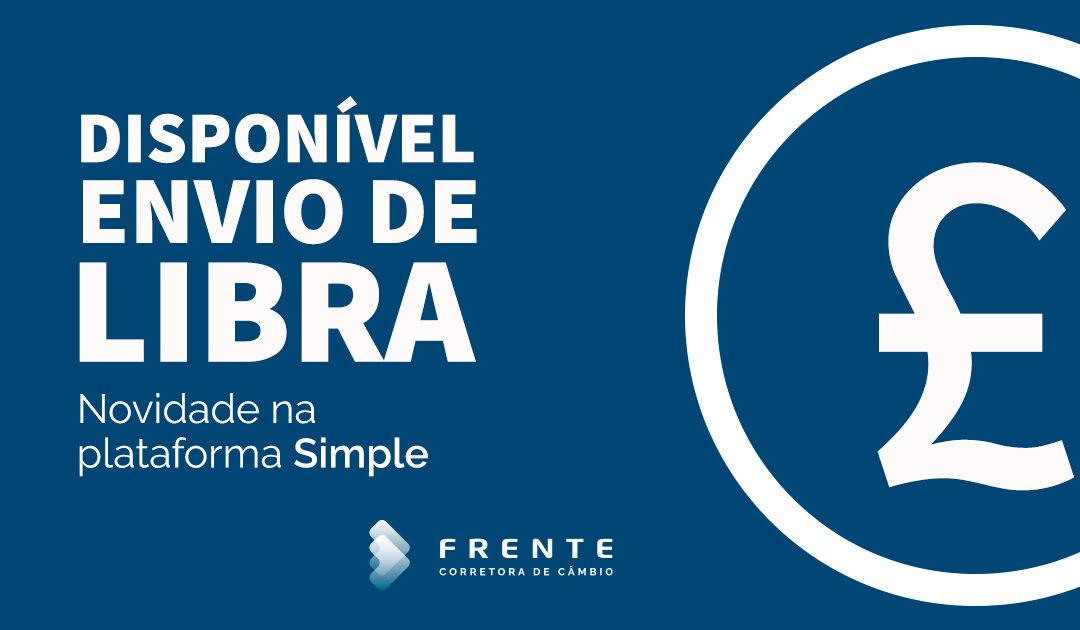 Frente Corretora lança o envio de Libra na plataforma Simple