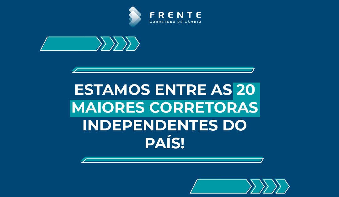 Frente Corretora encerra 2020 como uma das 20 maiores corretoras independentes do país.